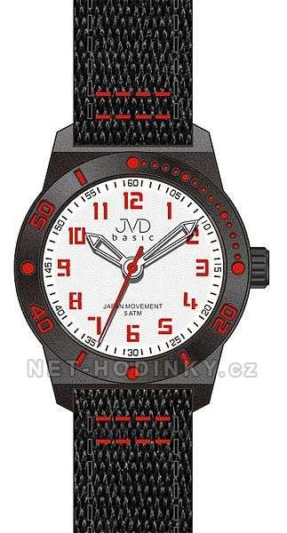 JVD Náramkové hodinky dětské, hodinky pro holky a kluky J7129.3.3 červená