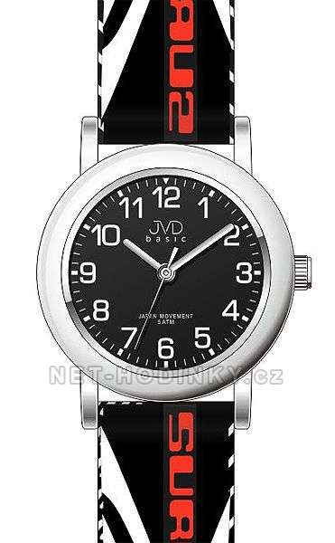 JVD Náramkové hodinky dětské, hodinky pro holky a kluky J7130.2.2 červená