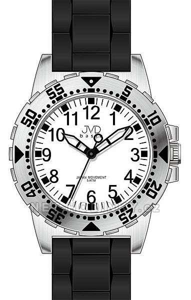 JVD Náramkové hodinky dětské, hodinky pro holky a kluky J7131.3.3 černá-bílá