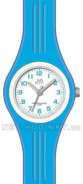 JVD Náramkové hodinky dětské, hodinky pro holky silikonové J7134.1.1 modrá