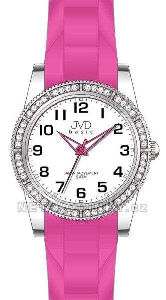JVD Náramkové hodinky dětské, hodinky pro holky silikonové J7134.2.2 růžová