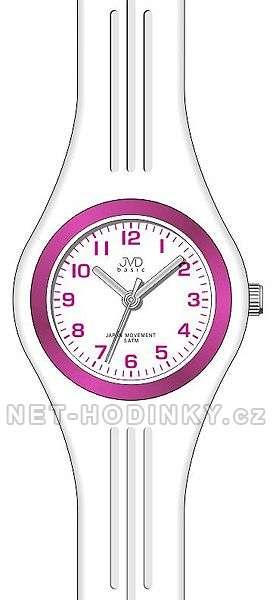 JVD Náramkové hodinky dětské, hodinky pro holky silikonové J7134.3.3 bílá
