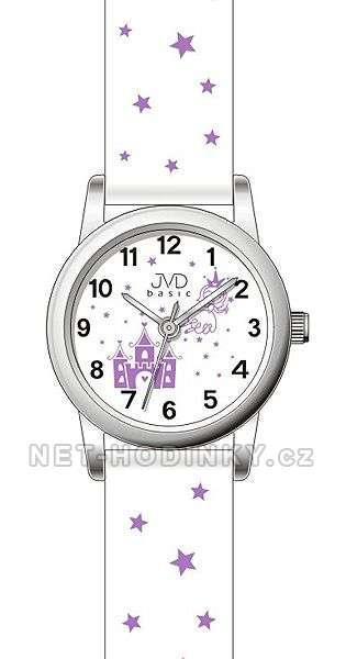 JVD Náramkové hodinky dětské, hodinky pro holky bílá J7135.1.1 bílá-fialová
