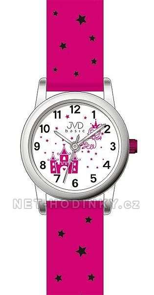 JVD Náramkové hodinky dětské, hodinky pro holky bílá J7135.2.2 růžová