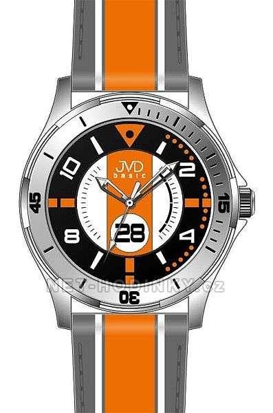 Náramkové hodinky dětské JVD basic W60.1.1, W60.2.2, W60.3.3, hodinky pro holky a kluky W60.3.3 oranžová