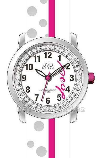 Náramkové hodinky dívčí JVD basic J7137.1.1, J7137.2.2, J7137.3.3, hodinky pro holku J7137.1.1 bílá