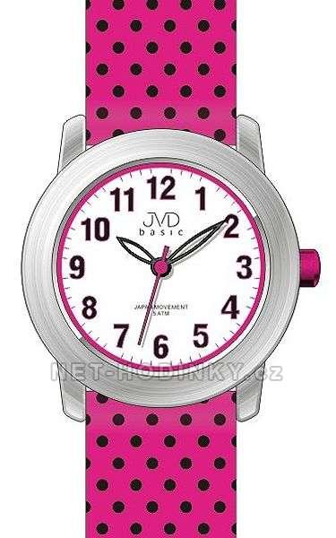 Náramkové hodinky dívčí JVD basic J7140.1.1, J7140.2.2, J7140.3.3, hodinky pro holky J7140.1.1 růžová