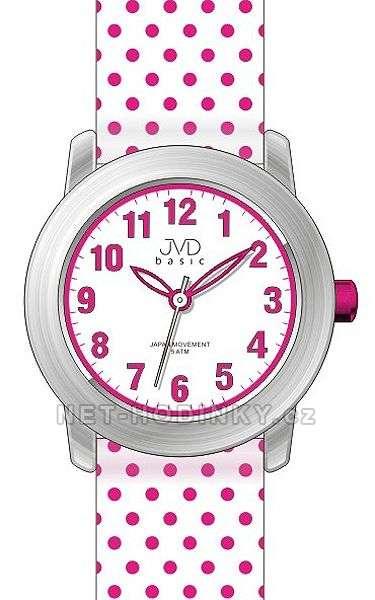 Náramkové hodinky dívčí JVD basic J7140.1.1, J7140.2.2, J7140.3.3, hodinky pro holky J7140.2.2 bílá