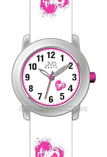 Náramkové hodinky dívčí JVD basic J7141.1.1, J7141.2.2, J7141.3.3, hodinky pro holky J7141.2.2 bílá