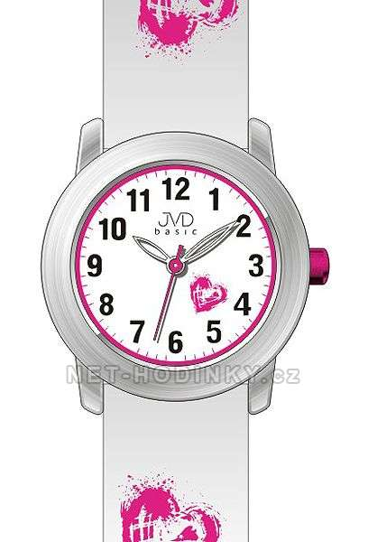 Náramkové hodinky dívčí JVD basic J7141.1.1, J7141.2.2, J7141.3.3, hodinky pro holky J7141.3.3 stříbrná
