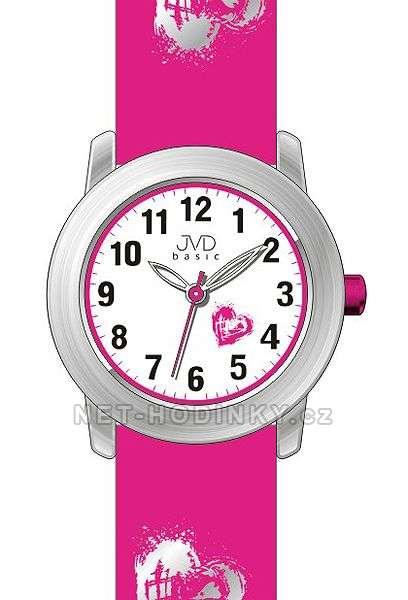 Náramkové hodinky dívčí JVD basic J7141.1.1, J7141.2.2, J7141.3.3, hodinky pro holky J7141.1.1 růžová