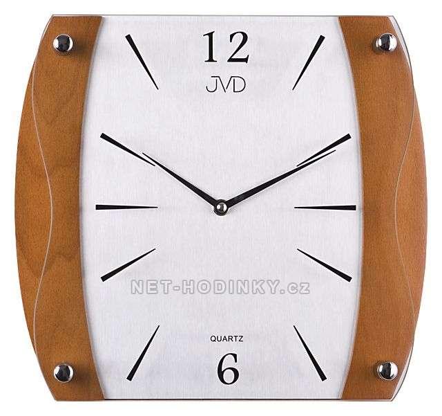 JVD Nástěnné hodiny na stěnu, nástěnné hodiny na zeď NS sweep 11027.41.1 třešeň