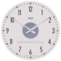 Nástěnné hodiny kulaté skleněné 1108.01