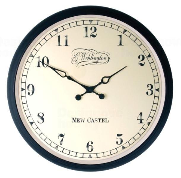NeXtime Kovové nástěnné hodiny v retro stylu Nextime Antik 2654