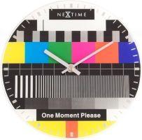 Designové nástěnné hodiny 5162 Nextime Little Testpage 20cm