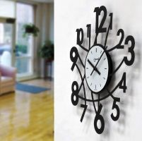 Designové nástěnné hodiny Lowell 05833N Design 50cm z boku