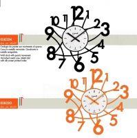 Designové nástěnné hodiny Lowell 05833N Design 50cm na zdi
