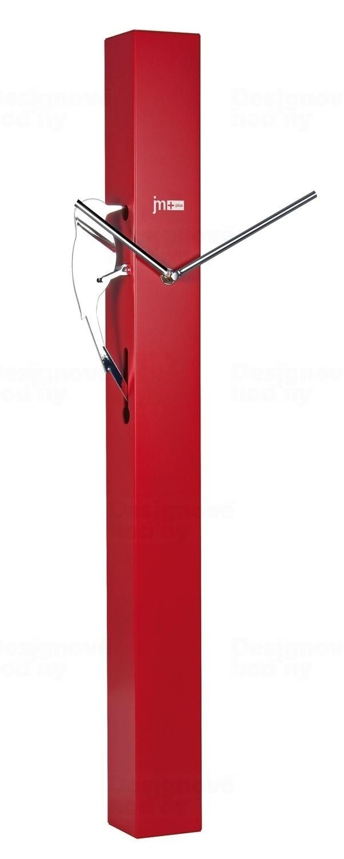 Lowell Italy Červené kyvadlové hodiny designové kovové Lowell 14541R