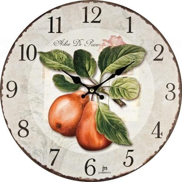 Lowell Italy Retro stylové nástěnné hodiny dřevěné Lowell 21424