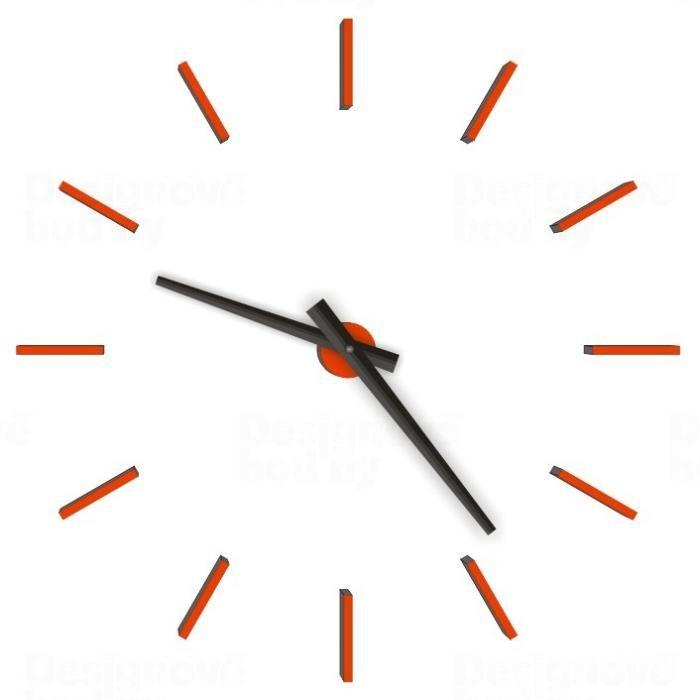 CalleaDesign Nástěnné nalepovací hodiny designové Calleadesign Barva 1480M oranžové