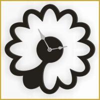 Designové nástěnné hodiny 1499 Calleadesign 45cm (20 barev) Barva fuchsiová-starorůžová