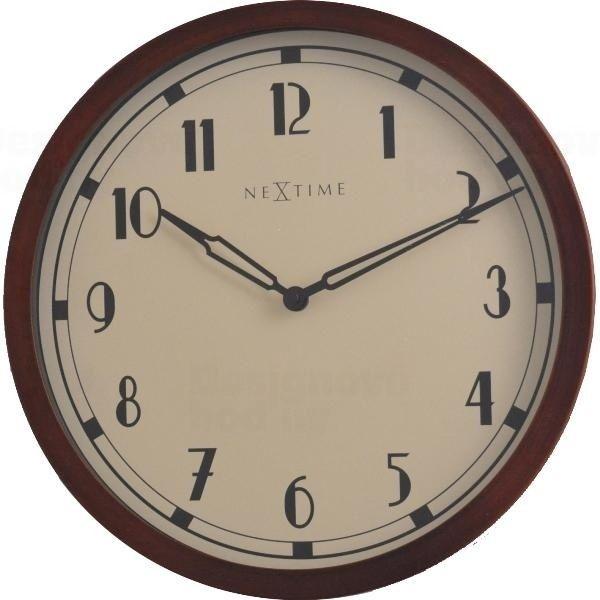NeXtime Velké vintage stylové nástěnné hodiny Nextime Royal 3057