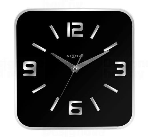 NeXtime Velké, čtvercové nástěnné hodiny Nextime 8149zw