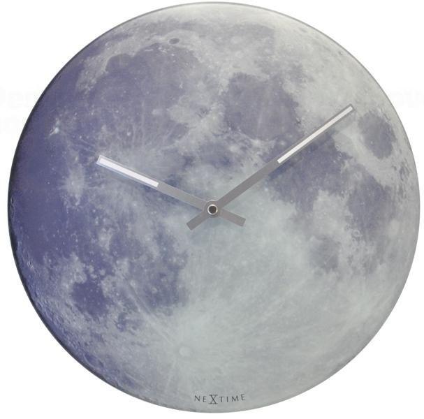NeXtime Svítící skleněné hodiny Luna Nextime 8814