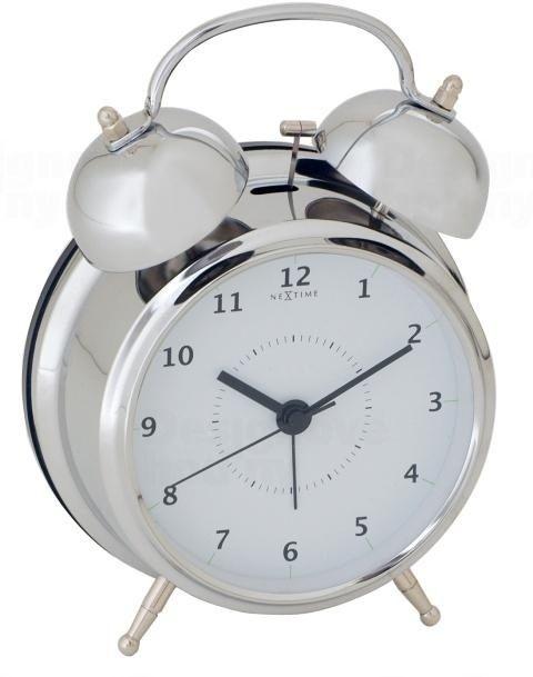 Nástěnné hodiny Designový budík 5112zi Nextime Wake Up 21cm Nástěnné hodiny