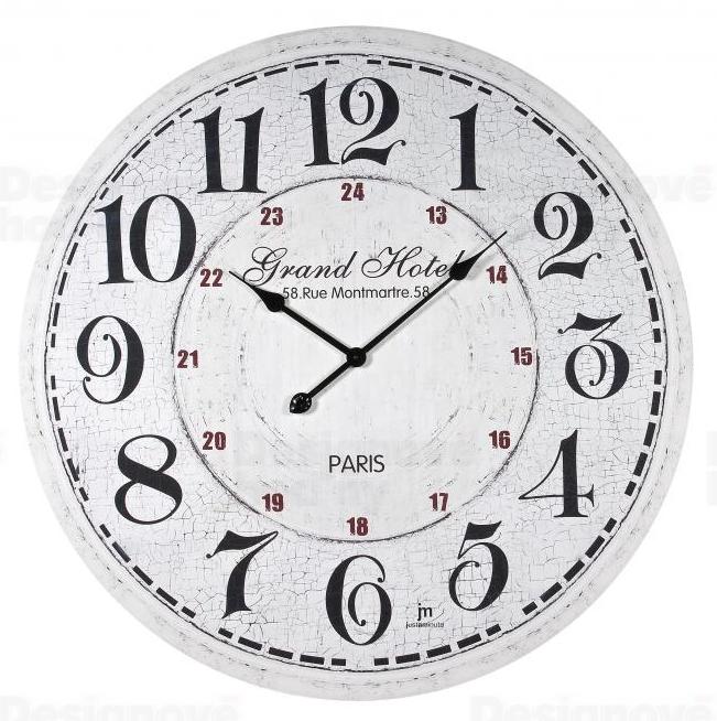 Lowell Italy Nástěnné hodiny retro Lowell 21433 dřevěné