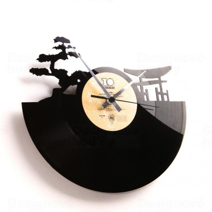 Moderní designové hodiny z gramofonové desky Discoclock 043 motiv Sunset