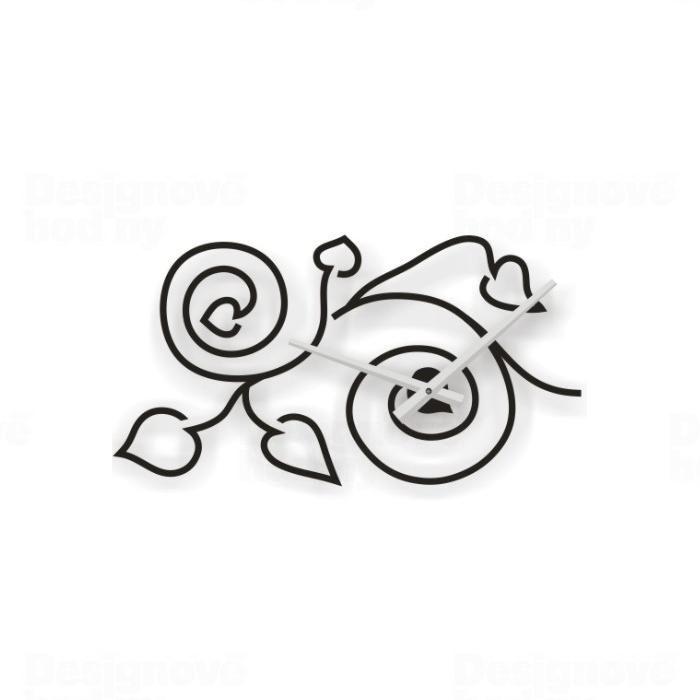 Designové nástěnné hodiny tetování 2018 Calleadesign 115cm (20barev) Barva růžová