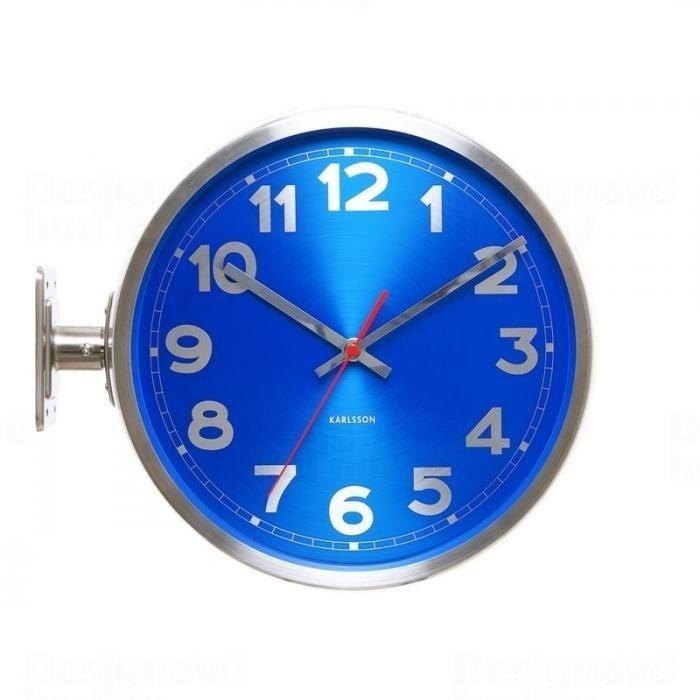 Oboustranné hodiny kovové Karlsson 5503 BL