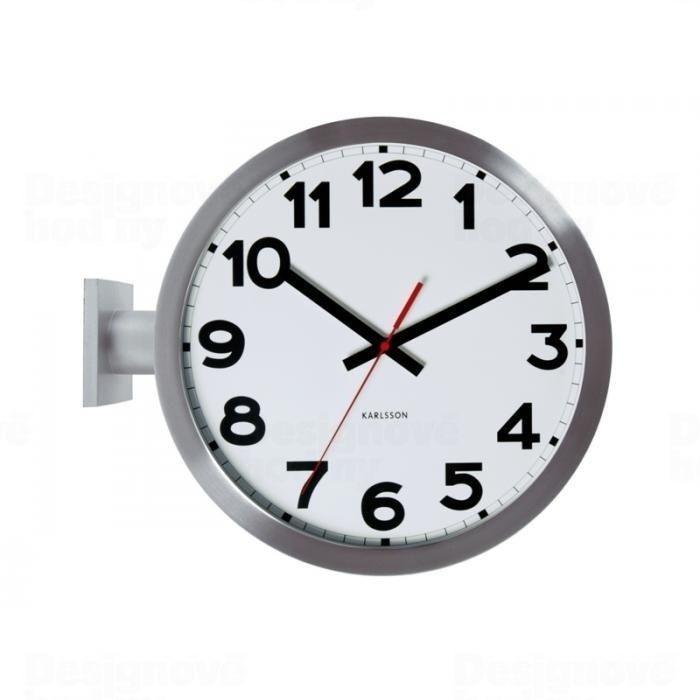 Oboustranné nástěnné hodiny Karlsson 5511 kovové