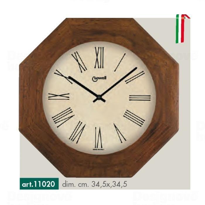 Lowell Italy Stylové dřevěné nástěnné hodiny s římskými číslicemi