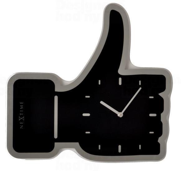 NeXtime Designové nástěnné hodiny 3072zw Nextime Facebook Like 42cm