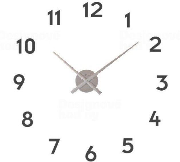 NeXtime Nalepovací nástěnné hodiny Nextime Small hands 3074zi
