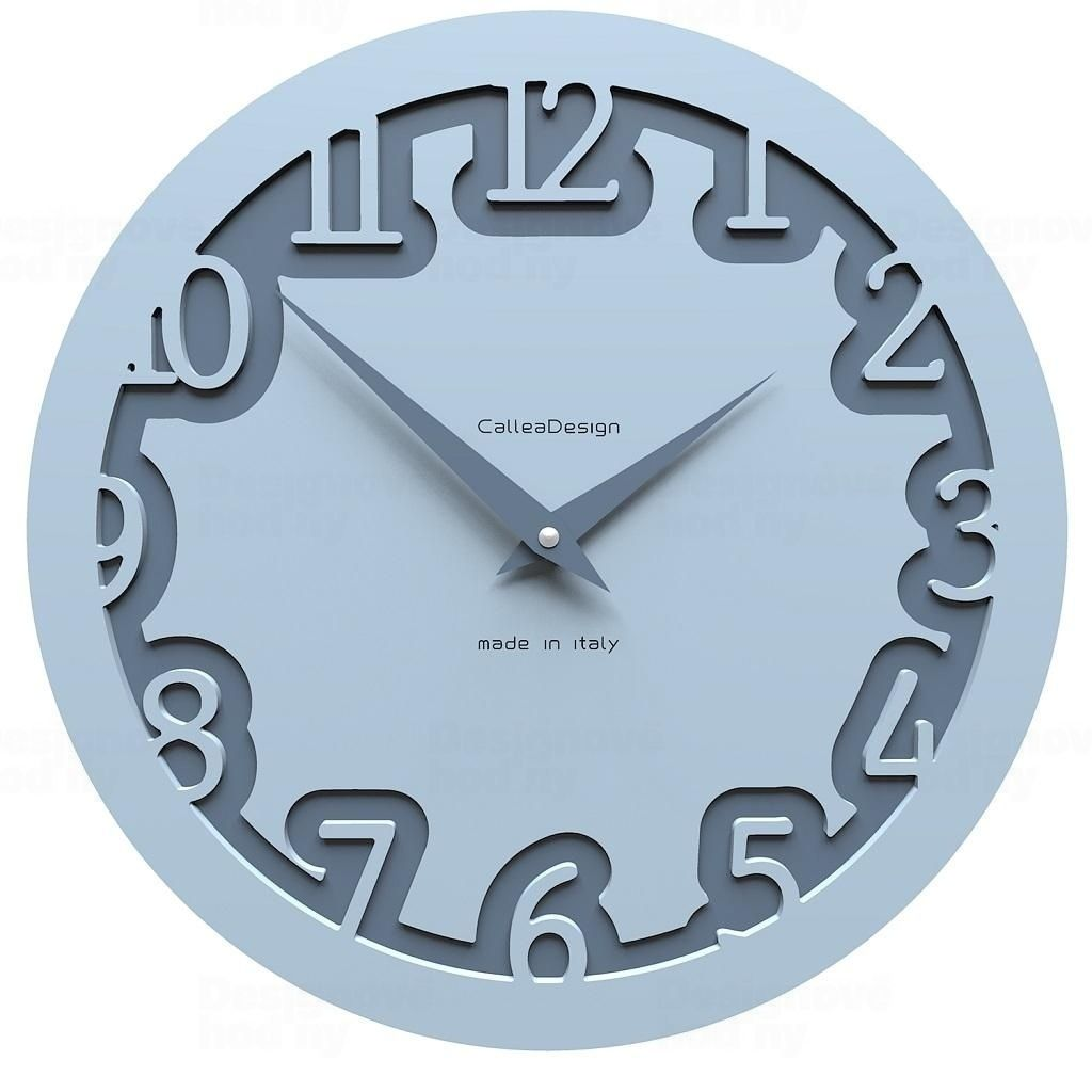 Designové hodiny 10-002 CalleaDesign Labirinto 30cm (více barevných verzí) Barva vanilka - 21