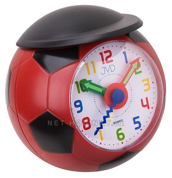 JVD dětský budík budíky fotbalový míč SR819.1 červená