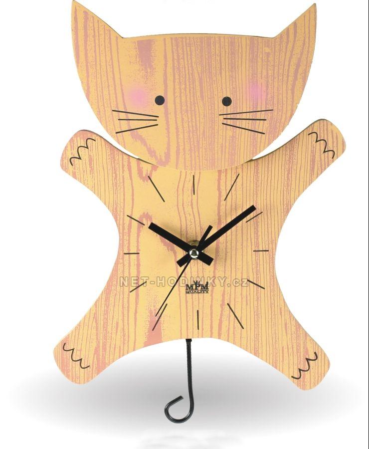 kyvadlové hodiny pro děti kočička