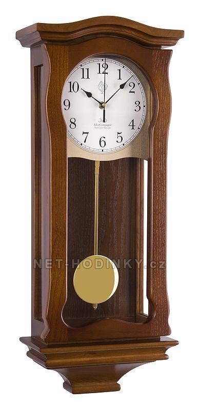 JVD Kyvadlové nástěnné hodiny na zeď, pendlovky quartzové NR2219/11 ořech