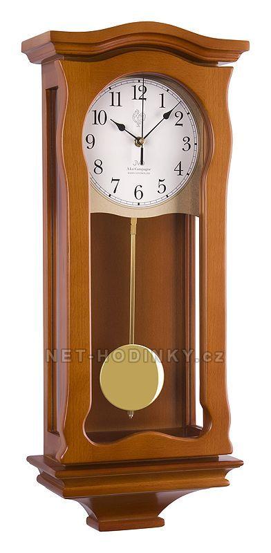 JVD Kyvadlové nástěnné hodiny na zeď, pendlovky quartzové NR2219/41 třešeň