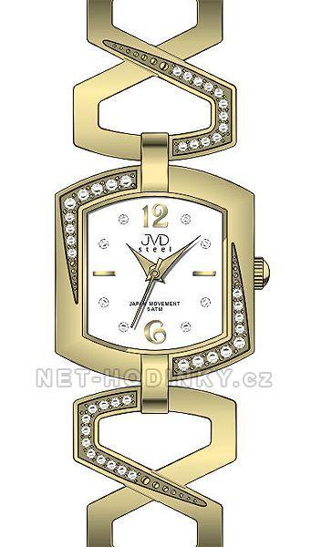 Náramkové hodinky JVD steel J4109.1.1, J4109.2.2, J4109.3.3, dámské hodinky j4109.3.3