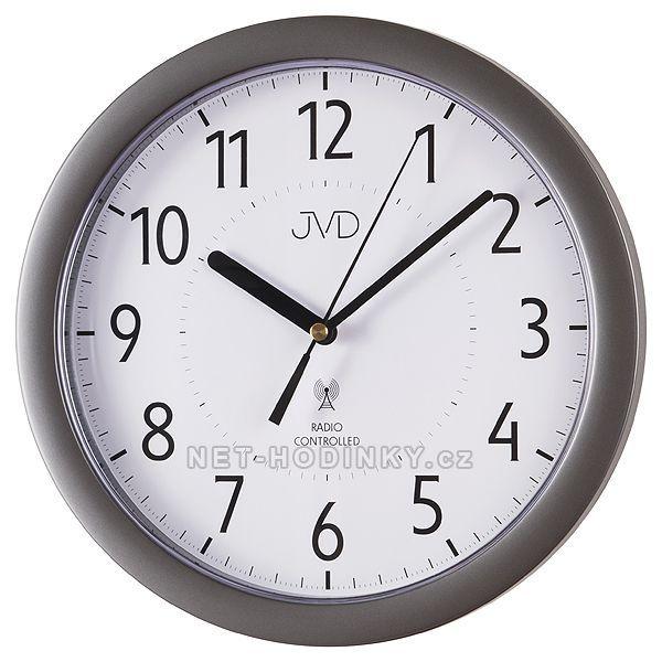 JVD Nástěnné hodiny na zeď RH 612.11.3 šedá