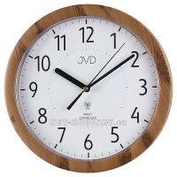 Nástěnné hodiny na zeď kulaté imitace světlé dřevo rh612.7 ihned JVD