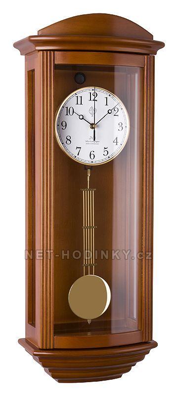 JVD Pendlovky, nástěnné kyvadlové hodiny s melodií, hodiny na zeď NR2220/41 třešeň