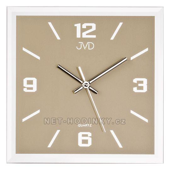 JVD Skleněné hodiny na zeď N26113. 3.2