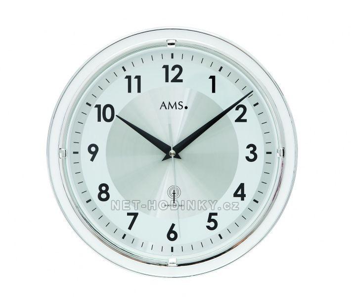 Skleněné nástěnné hodiny AMS 5945, AMS 5946 rádiem řízené
