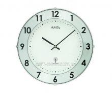 Nástěnné hodiny skleněné AMS 5947, AMS 5948 rádiem řízené stoje