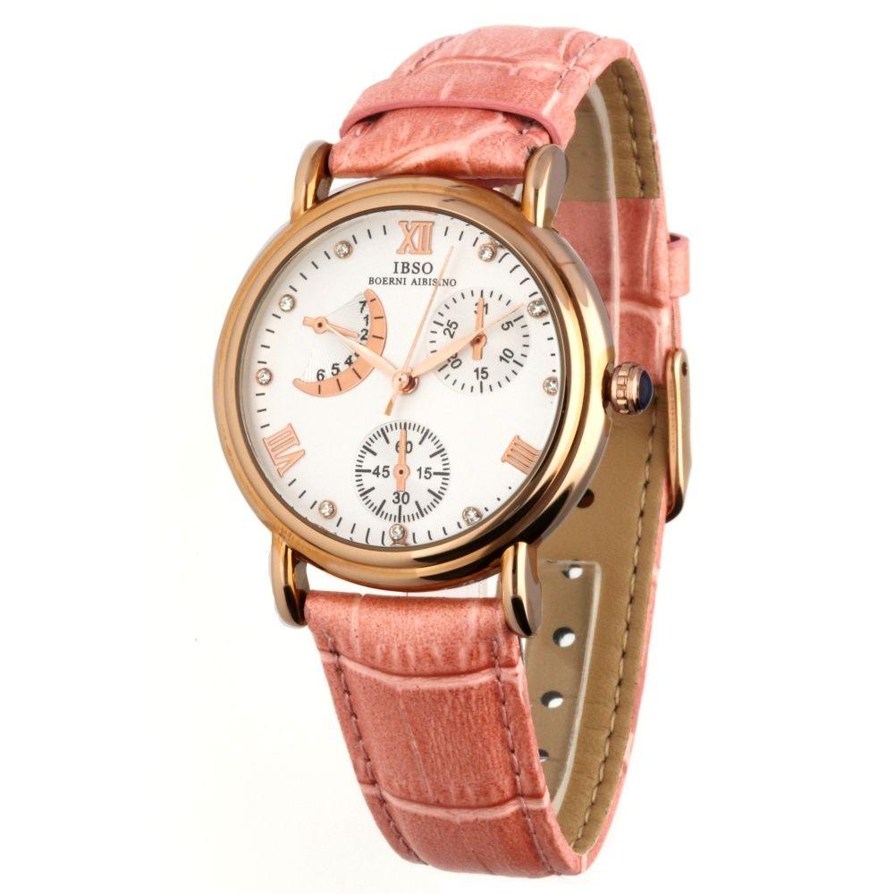 Elegantní dámské hodinky se zajímavým ciferníkem a pouzdrem z růžového zlata..025